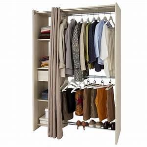 Dressing Tout En Un Avec Rideau : castorama dressing tout en un avec rideau 54 90 ~ Dailycaller-alerts.com Idées de Décoration