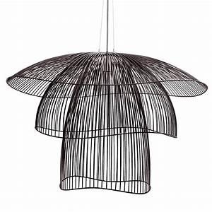 Suspension Fil De Fer : suspension fil de fer noir 100cm papillon lights lighting design and chandeliers ~ Teatrodelosmanantiales.com Idées de Décoration