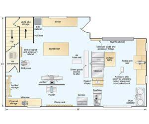 floor plan  workshop workshop woodshop pinterest