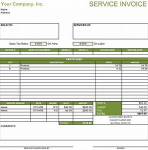 5 service invoice templates for word and excelr With sample invoice for administrative services