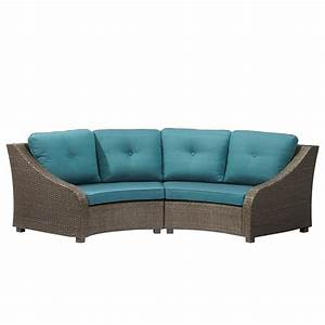 hampton bay torquay wicker outdoor sofa with charleston With outdoor sectional sofa home depot