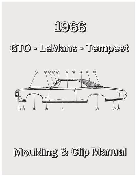 book repair manual 1991 pontiac lemans instrument cluster 1966 gto pontiac molding clip manuals opgi com