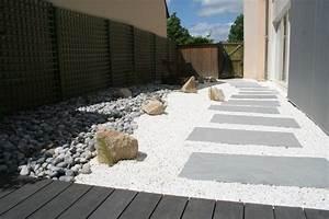 amenagement d39un cote de maison galets de rivieres palis With amenagement de terrasse exterieur 11 terrasse piscine galets