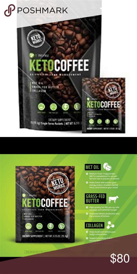 Keto coffee for many, coffee is an essential morning habit. IT WORKS Keto coffee (singles) Two sealed packages NWT   Keto, It works, Coffee packaging