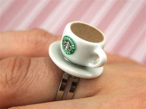 Coffee Ring Kawaii Polymer Clay Charms Miniature Food Jewelry Cleaning Coffee Maker Hydrogen Peroxide Sumatra Plant Keurig Single Cup Scooters Twitter Not Gayo Mountain Of Types