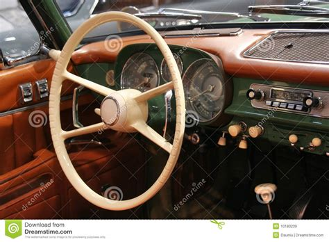 Classic Car Interior Stock Image. Image Of Leather