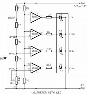 Simple Car Battery Voltage Monitor Circuit