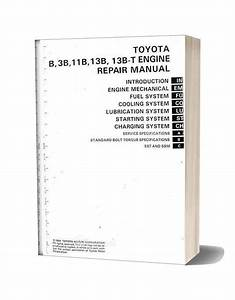 Toyota B 3b 11b 13b 13b T Engine Repair Manual