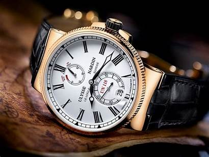 Nardin Leather Ulysse Strap Round Chronograph Colored