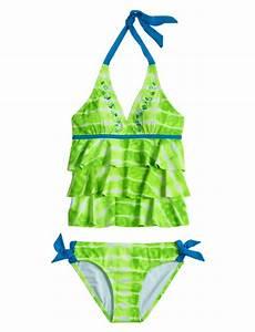 Girls Clothing   Tankinis   Green Tie Dye Tankini Swimsuit ...