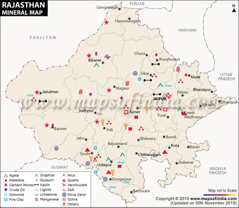 rajasthan mineral map mineral resources  rajasthan
