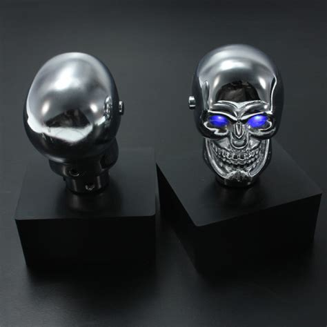 buy car chrome skull auto manual gear stick shift knob lever universal bazaargadgetscom