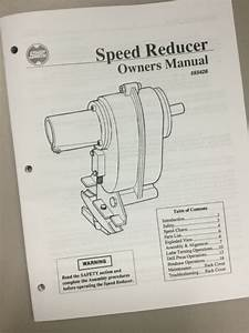 Shopsmith Speed Reducer Owners Manual 555428  User U0026 39 S Guide
