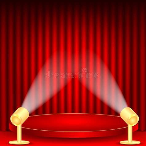 podium drape theatrical background stock vector image of histrionics