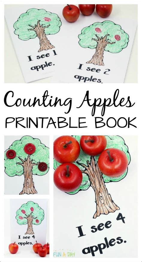free printable apple counting book for a preschool 489 | 13eb172400f10dd37664564a16c2840d