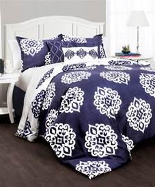 navy white medallion comforter set modern comforters and comforter sets