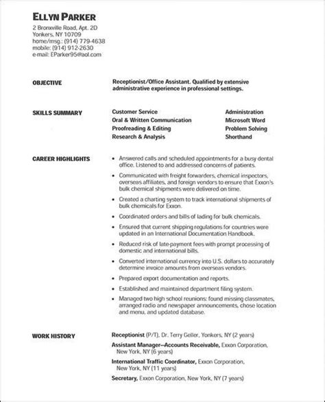 Resume Objective For Stay At Home by Resume For Stay At Home Going Back To Work Resume Ideas