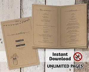 printable wedding ceremony book template unlimited pages With multi page booklet template