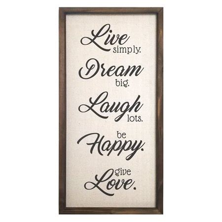 """Free shipping on your first order shipped by amazon. Stratton Home Decor """"Live, Dream, Laugh, Happy, Love"""" Wall Decor - Walmart.com"""