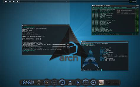 arch linux best tiling window manager openbox how to make the icons work on panel and window