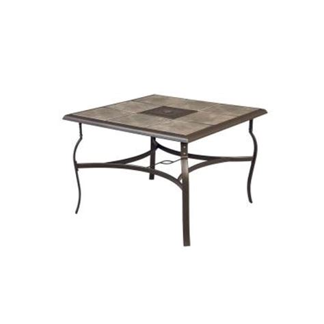 hton bay belleville 40 in square patio dining table