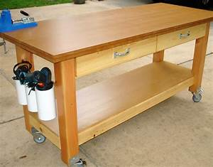 Woodwork Rolling Work Table Plans PDF Plans