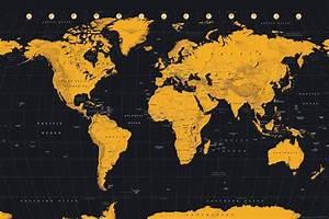 Affiche Carte Du Monde : description visuwall affiche carte du monde ref 46479 mise ~ Dailycaller-alerts.com Idées de Décoration