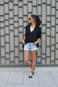 short en jean et lignes graphiques june sixty five With blog tendance mode femme