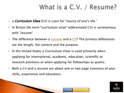 cv resume resume cv difference
