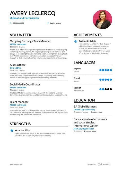 top volunteer resume examples samples   enhancvcom