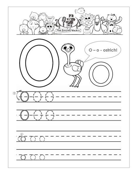 letter o worksheets for preschool kids worksheets