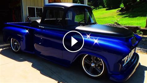 chevy street truck   eye pleasing blue paint job