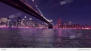 New York Brooklyn Bridge Night View HD Stock video footage ...