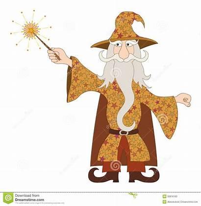 Spell Magic Wizard Wand Casting Gandalf Cartoon