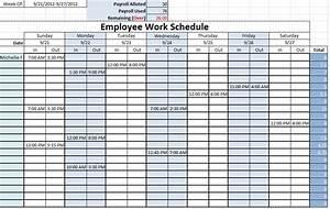 monthly employee work schedule template excel With employees schedule template free