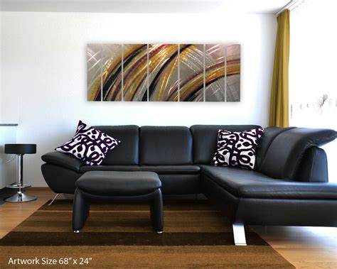 Home Decor Paintings 3 Panel Classic Paris Oil Painting On: Modern Abstract Metal Wall Art Painting Sculpture Home