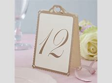 heart wedding table numbers ivory gold by ginger ray