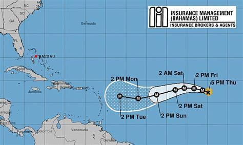 hurricane irma   potential threat   bahamas