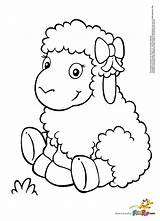 Lamb Drawing Coloring Pages Getdrawings sketch template