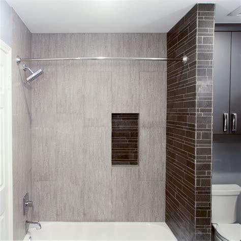 light grey tile      shower area
