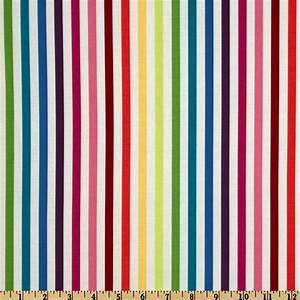 Michael Miller Stripes Mighty Stripe Rainbow - Discount
