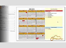 Tutorial Excel Creación de Calendarios YouTube