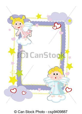 clipart angeli cornice angeli