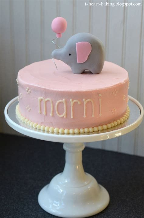 Baby Shower Baby Cake - elephant baby shower cake cakecentral