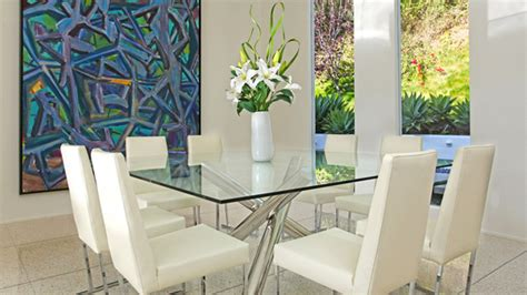 Home Interior Design For Living Room 15 Shimmering Square Glass Dining Room Tables Home Design Lover