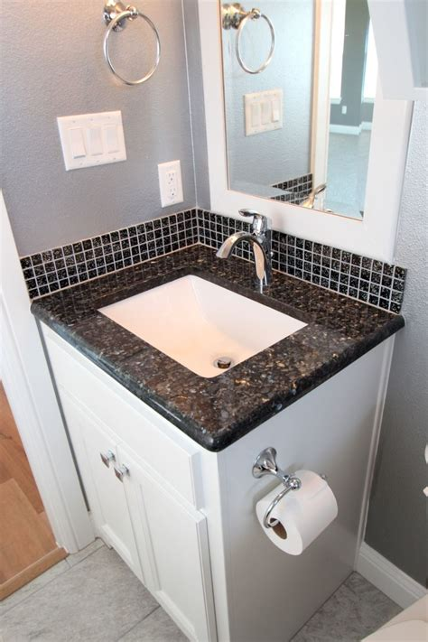 white cabinets blue pearl granite bathroom remodel