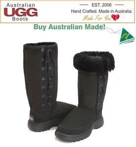 100% Australian Made Outdoor Sole Lace Up Sheepskin Ugg