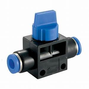 Manual Shut-off Valve Pneumatic Air Push Fittings