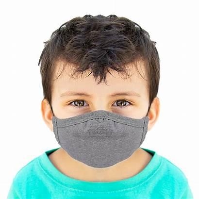 Face Masks Mask Reusable Mockup Grey Cotton