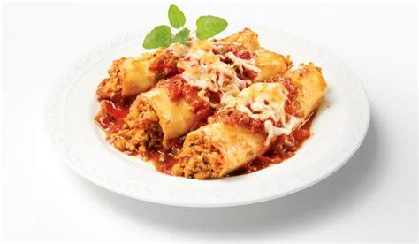 cuisine italienne cannelloni cannellonis gratinés à la chair de saucisse italienne